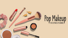 Biege Pop Make up Youtube Channel art Makeup