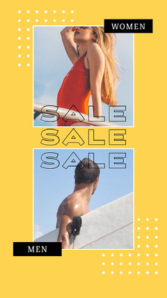 Yellow, Light Toned, Sale Ad, Instagram Story Men