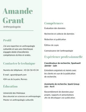 Amande Grant CV