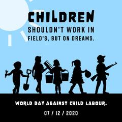Blue World Day Against Child Labour Instagram Square Kids