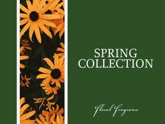 Green Yellow Flower Spring Collection Facebook Shop  Spring