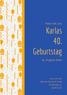 Karlas<BR>40.<BR>Geburtstag  Einladung