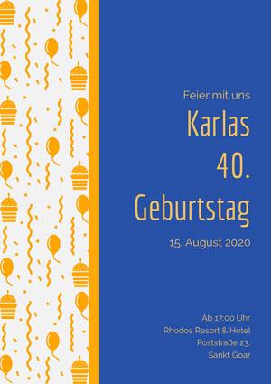 Karlas<BR>40.<BR>Geburtstag  Einladung zur Party
