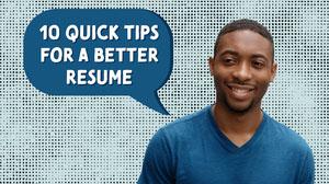 Blue Speech Bubble and Man Photo Resume Advice Youtube Thumbnail 파란색 말풍선 유튜브 썸네일 용 얼굴 사진 배경 지우기