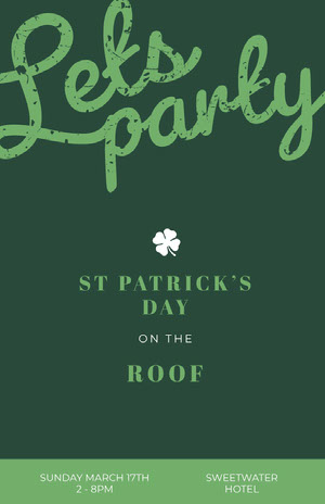 Green Patrick's Day Party Poster St. Patrick's Day Templates