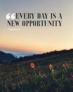 Meadow Photo Motivational Quote Instagram Portrait