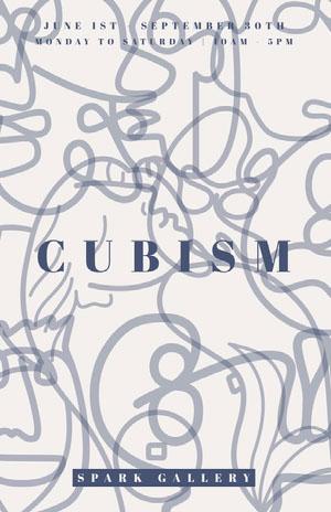 CUBISM Kunstplakat