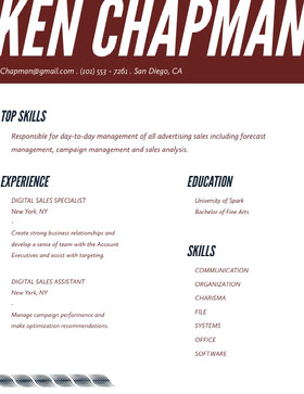 Brown Modern Sales Specialist Resume Currículum moderno