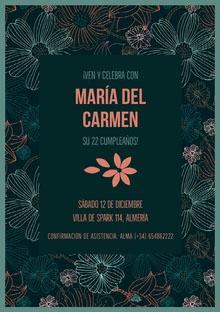 María del Carmen  Invitación