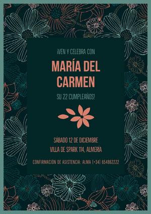María del Carmen  Invitación de fiesta