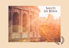 Orange Soft Light Saluti da Roma Postcard Italy