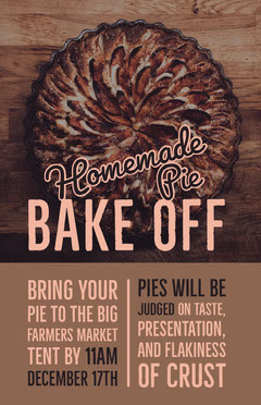 Brown and Pin Homemade Pie Poster Contest