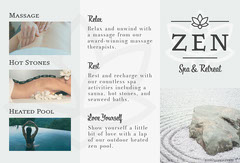 Grey and White Spa and Retreat Brochure Massage Flyer