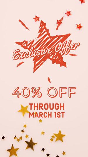 Orange and Pink Shop Sale Flyer Pink Flyer