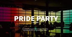Dark and Rainbow Color Pride Party Ad Facebook Banner Love