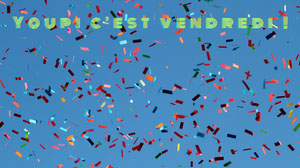 Multicolor Confetti Blue Sky Happy Friday Zoom Background  Fond d'écran d'ordinateur