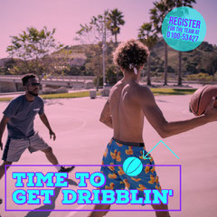 Time to get Dribblin' Game Night Flyer