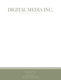 Green Elegant Digital Media Business Letterhead Letterhead Templates