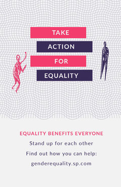 White Take Action Gender Equality Poster Benefit Flyer