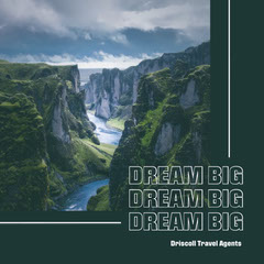 Green Scenic Dream Big Travel Agents Instagram Square Travel