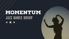 Blue and White Dance Group Facebook Page Cover Jazz