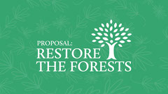 Restore the Forests Presentation Cover Trees