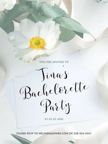 Floral Feminine Bachelorette Party Invitation Invitation