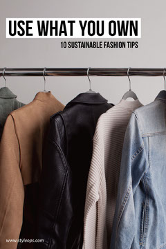 sustainable fashion tips Pinterest ad Fashion
