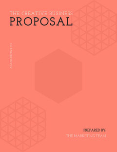 Orange Geometric Business Proposal Marketing