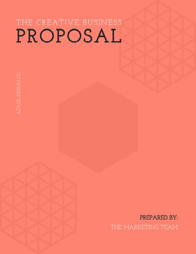 Orange Geometric Business Proposal Forslag
