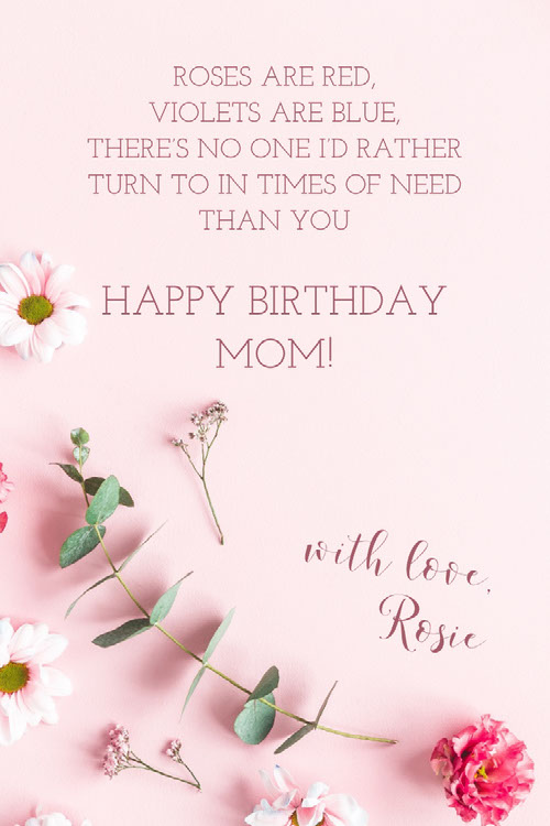 with love, Rosie Birthday Cards for Mother