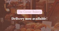 Brown Pink Corner Bakery Instagram Landscape Dessert