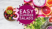 Colorful Easy Summer Salads Banner Banner
