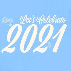 Light Blue Celebrate 2021 IG Square Fireworks