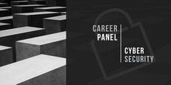 Black and White Carrer Panel Social Post Career Poster