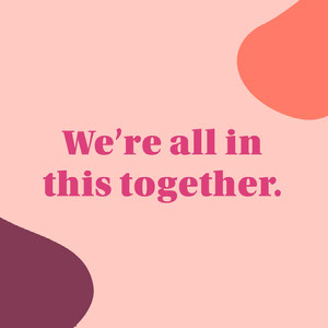 Pink Shapes Unity Inspirational Instagram Square Free Fonts