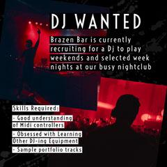 Red DJ Splatter Music Job Instagram Square  Dance Flyer