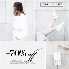 White Clothing Store Sale Instagram Square Ad Graphic  Shoes