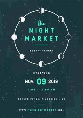 Night Market Flyer Veranstaltungs-Flyer