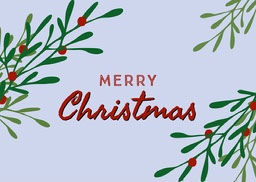 Blue Foliage Merry Christmas Card jeff-test-5