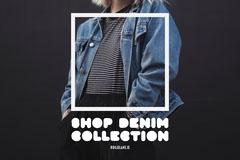 Woman's Jacket Shop Denim Postcard Shopping