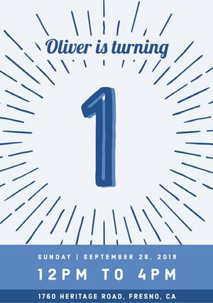 Navy Blue and White Birthday Invitation Birthday Invitations for Boys