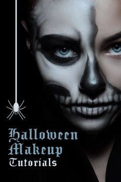 Black & White Halloween Makeup Pinterest Post Makeup