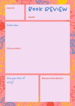 pink space book report worksheet Space