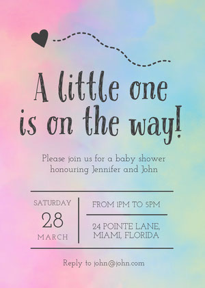 A Little One Is On The Way Baby Shower Invitation Baby Shower Thank You Card