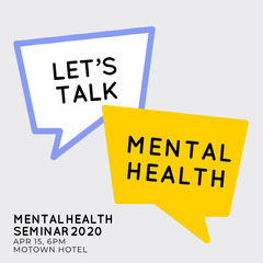 mental health instagram square Seminar Flyer
