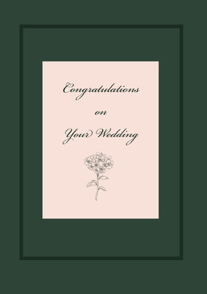 Congratulations <BR>on<BR>Your Wedding  Lykønskningskort