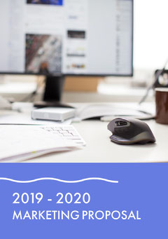 Blue and White Marketing Proposal  Marketing