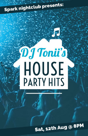 HOUSE PARTY HITS Konsertaffisch