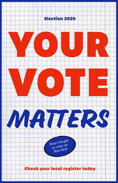 Blue & Red Voting Poster  Election